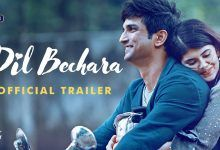 Dil Bechara Bollywood Movie Trailer Sushant Singh Rajput, Photos, Videos, Full Movie Watch Online Free Down Load Leaked By Tamilrockers, Down Load Torrent Telegram File Link