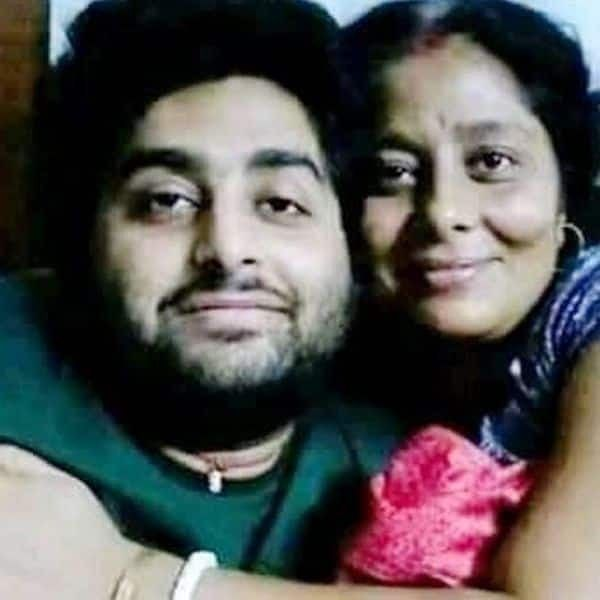 Arijit Singh with His Mother