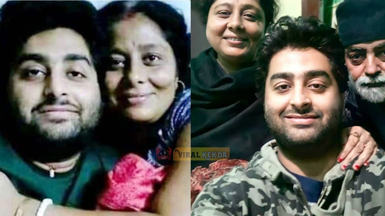 Arijit Singh with his Mother Photo