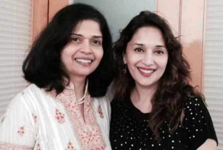 Madhuri Dixit with Sister