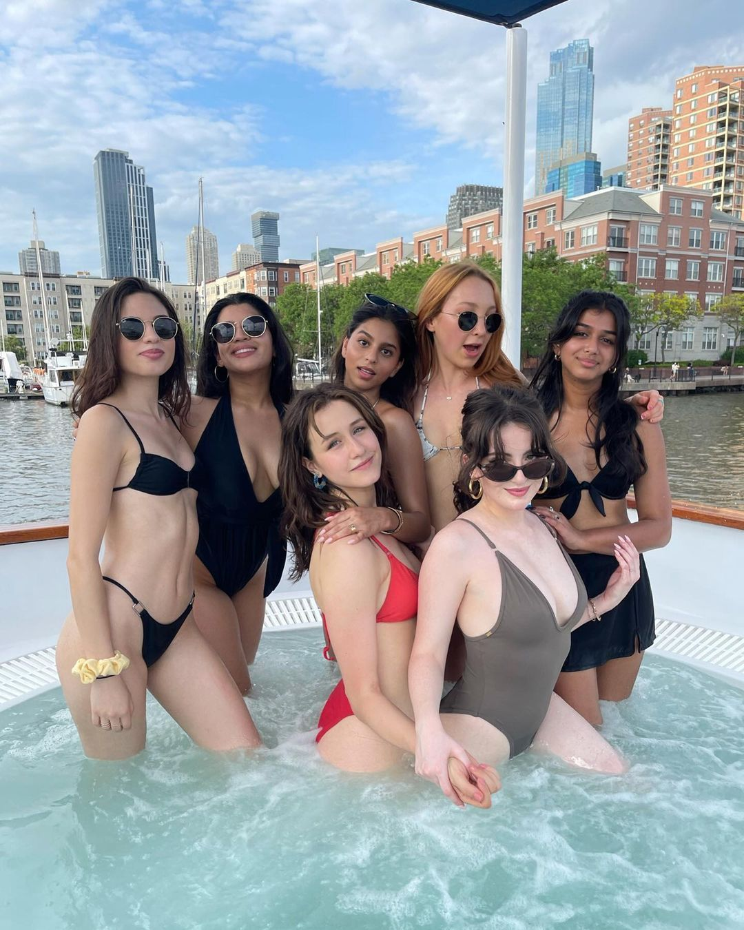 Suhana Khan Pool Party Photos Videos with Friends